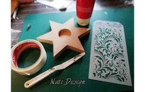 Material und Werkzeug Teelichthalter