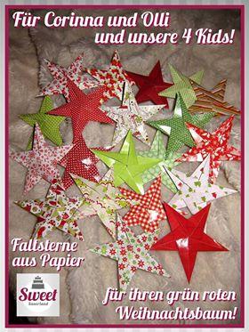 bunte Sterne aus Papier