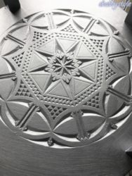 Teetisch silber Platte unten