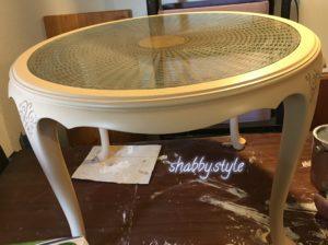Chippendale Tisch Glasplatte